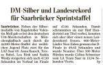 SZ vom 02.08.16 DM Silber Sprintstaffel